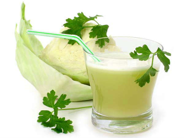 Cabbage And Ginger Juice