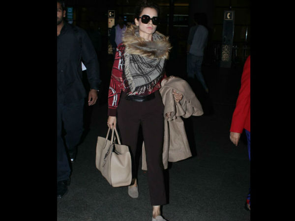 Check Out Kangana Ranaut's CHECKERED SCARF IN STYLE