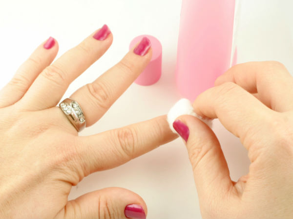 How do you get nail polish off without using nail polish remover?