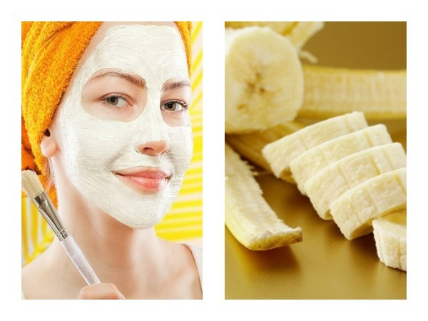 Banana face packs to get rid of pimples, oily skin & dry skin