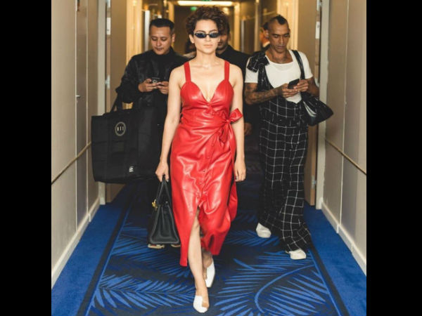 Kangana Ranaut takes bold to another level on her second day in Cannes