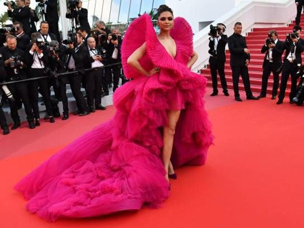 Deepika Padukone goes Dramatic in Pink at Cannes 2018