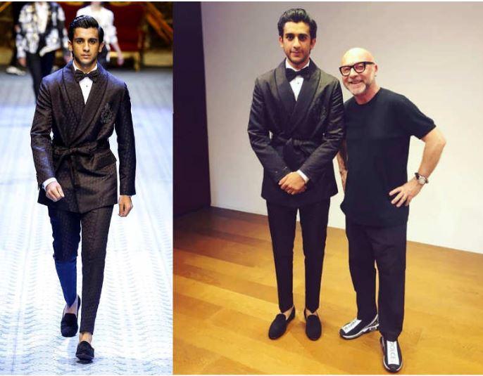 इटली में  इंटरनेशनल ब्रांड Dolce & Gabbana के लिए जयपुर के प्रिंस पद्मनाभ सिंह ने किया वॉक