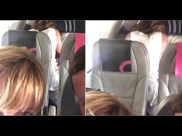 Video of couple having sex in a plane