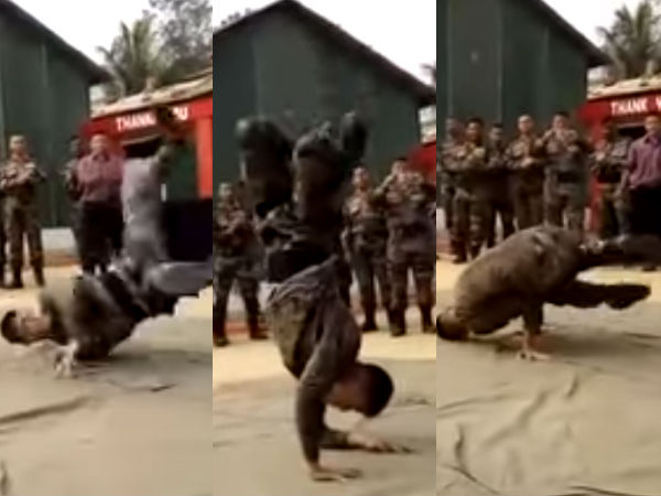 Video Of An Army Man Dancing On Aloo Chatt Song Is Going Viral