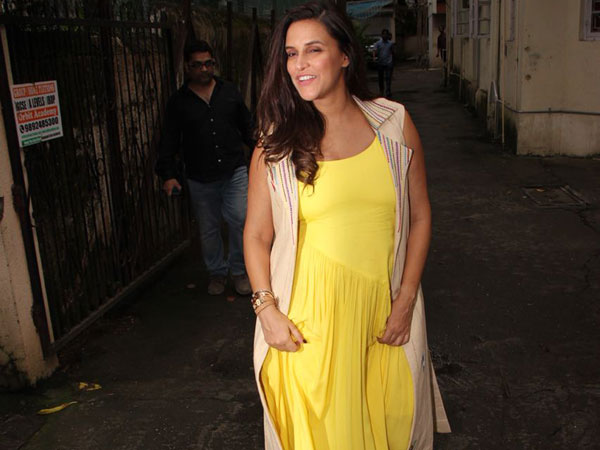 Neha Dhupia Killed Our Moody Blues With This Vibrant Yellow Number