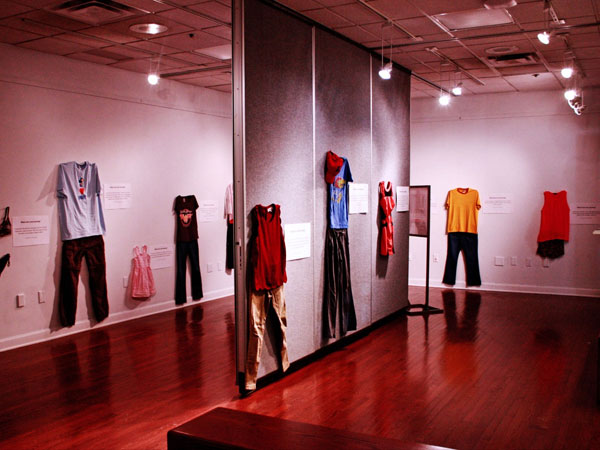 Rape victim dresses exhibition