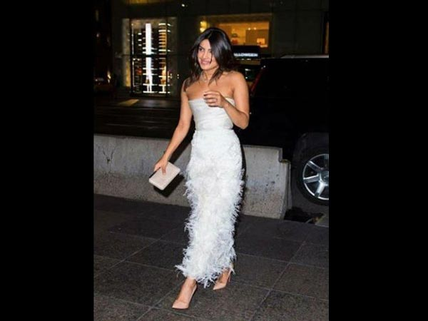 Priyanka Chopra looked stunning in white at her bridal shower in New York