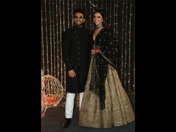 Twinning in black Deepika Padukone and Ranveer Singh are the perfect showstoppers at Priyanka-Nicks reception