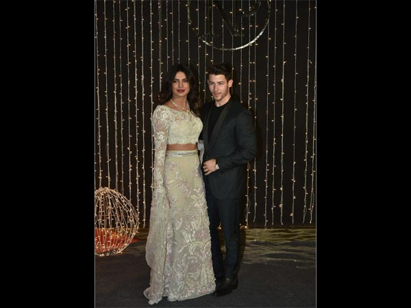 Priyanka Chopra looks like a dream in this mint floral lehenga for her wedding reception