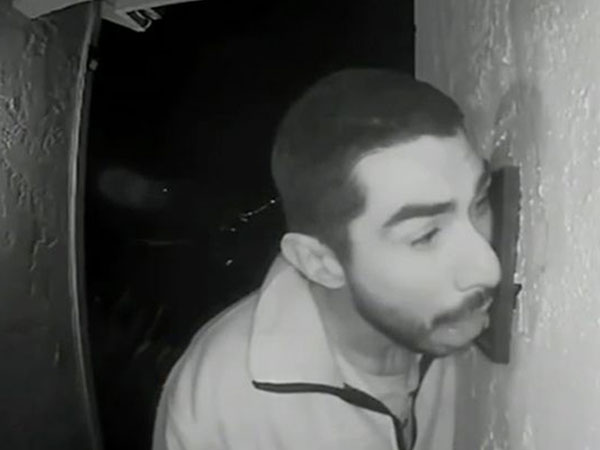 Video Alert: Man Caught On Camera Licking Doorbell For Three Hours