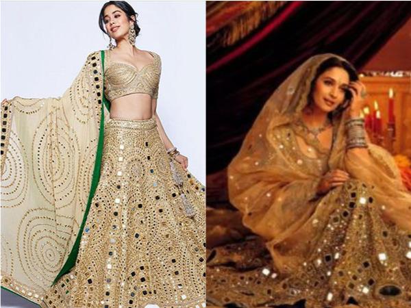 जाह्नवी ने श्लोका और आकाश की शादी में पहना था ये नायाब लहंगा, देवदास की चंद्रमुखी से है कनेक्शन
