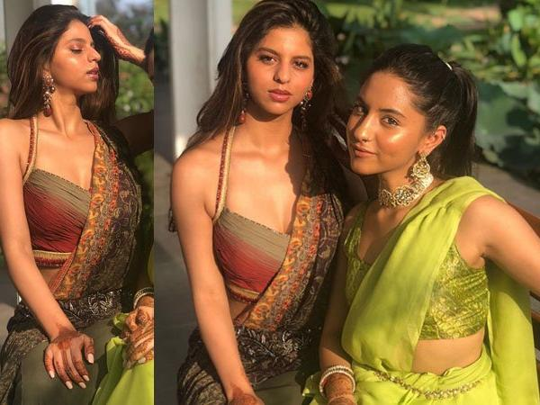 Suhana Khan Dazzles In Traditional Best At Cousins Wedding