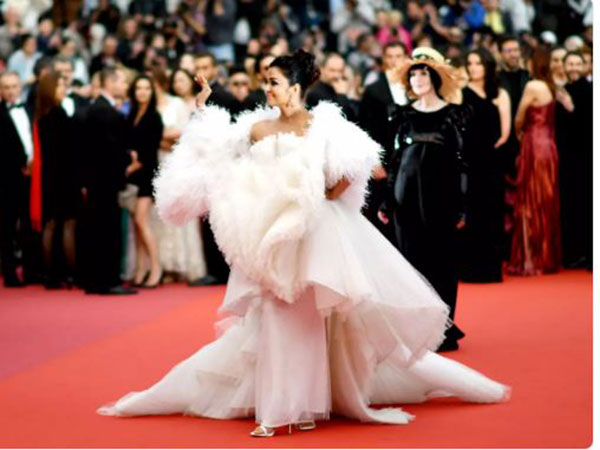 Aishwarya Rai brings drama to Cannes red carpet in elaborate white gown