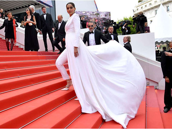 Cannes 2019: Sonam Kapoor makes a power statement on the red carpet in Ralph & Russo