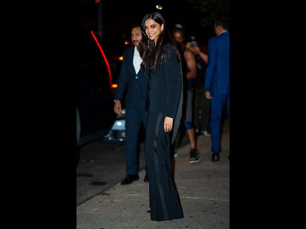 Deepika Padukone grabs everyones attention as she gets snapped in a black suit in New York