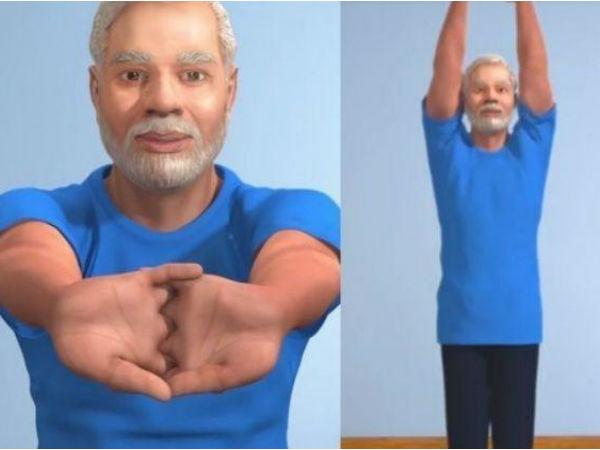 पीएम मोदी ने एनिमेशन वीडियो से बताया 'ताड़ासन' करने का तरीका, जानें इसके फायदे