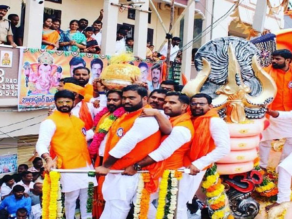 Balapur Ganesh laddu sold for Rs 17.6 lakh in Hyderabad