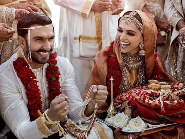 Deepika Padukone Wore Special Red Saree For Her First Wedding Anniversary