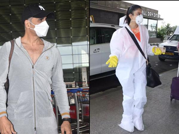कोरोना काल में बंदल गया बॉलीवुड स्टार्स का एयरपोर्ट लुक, शानदार आउटफिट के बदले पीपीई किट में आए नजर