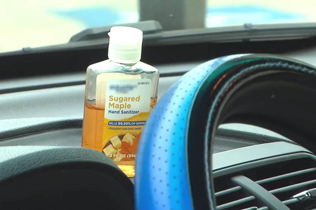 Is it safe to leave hand sanitizer in your car?