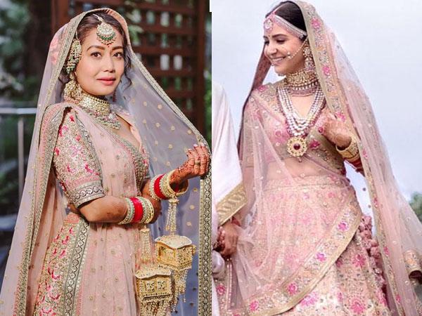 शादी में खूबसूरत लुक के लिए अनुष्का शर्मा और नेहा कक्कड़ की तरह ट्राई करें लाइट शेड लहंगे