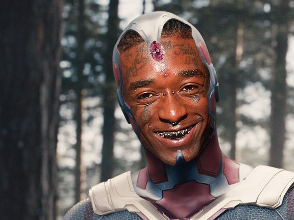 American Rapper Lil Uzi Vert Places Pink Coloured Rare Diamond On His Forehead