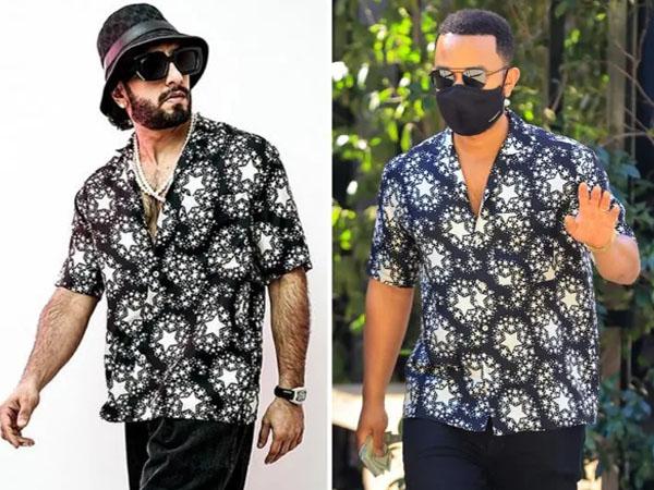 रणवीर सिंह और जॉन लीजेंड दोनों ने पहनी स्टार प्रिंट शर्ट, किसका लुक था बेहतर