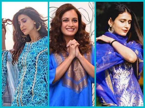 ईद पर आहाना कुमरा, दीया मिर्जा और फातिमा शेख की तरह ब्लू कुर्ता सेट पहनकर दिखें खास