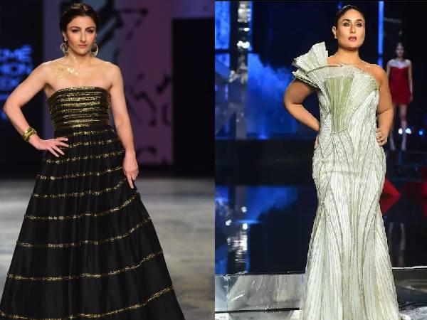 Lakme Fashion Week: रैंप पर ननद सोहा अली खान के ग्लैमरस वेस्टर्न लुक ने भाभी करीना कपूर को दी कड़ी टक्कर