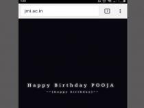 """हैकर ने जामिया की वेबसाइट पर कहा """"Happy Birthday Pooja"""""""