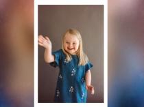 डाउन सिंड्रोम के बावजूद ये 7 साल की बच्ची बन गई मॉडल