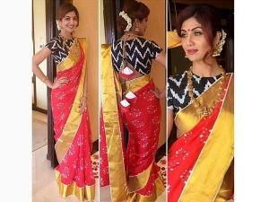 Shilpa Shetty Dressed Traditionally Saree