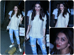 Deepika Padukone S Frazzle Jeans Grabs Attention