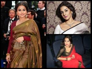 Bollywood Signature Style Vidya Balan Saree Looks