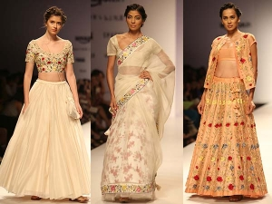 Aifw Day 2 Pratima Pandey Drapes Her Models A Bronzed Eart
