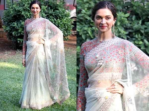 You Must Check Out The Latest Saree Look Of Deepika Pad
