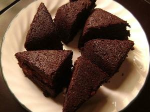 Ragi Dark Chocolate Cake