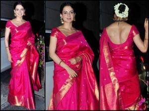 Who Wore The Best Madhuri Dixit Kangana Ranaut In Silk Sarees