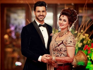 Divyanka Weds Vivek Divyanka Reception Lehenga Is Wow