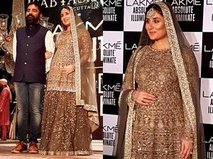 Mommy To Bekareena Kapoor Walks For Sabyasachi Lakme Fashion Week