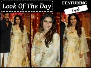 Look Of The Day Kajol In Bhumika Sharma For Shivaay Promotio