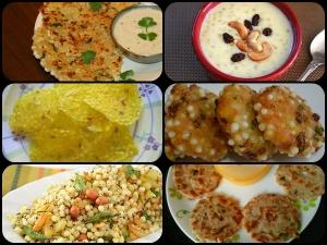 Sabudana Vrat Recipes Sabudana Fasting Recipes