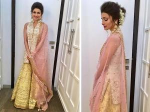 Prachi Desai Wearing Tamanna Punjabi Kapoor