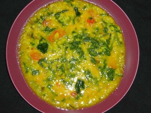 How Make Dal Palak Simple Moong Dal Preparation