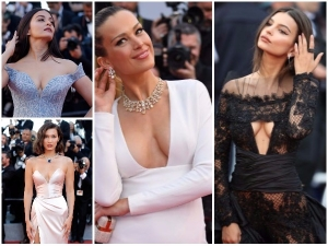 Cannes 2017 Deep Neck Dresses At Red Carpet