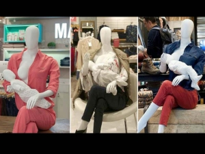 Shopping Mall Introduced Breastfeeding Mannequins