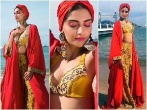 Sonam Kapoor At Cannes 2017 Sonam Impresses Us Anamika Khanna Outfit
