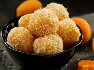 Mango Coconut Ladoo Sweet Recipe