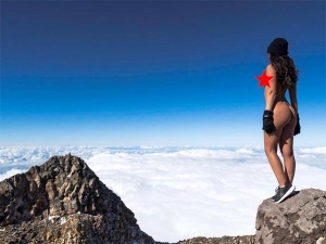 Playboy Model Jaylene Cook Poses Nude On Mount Taraniki